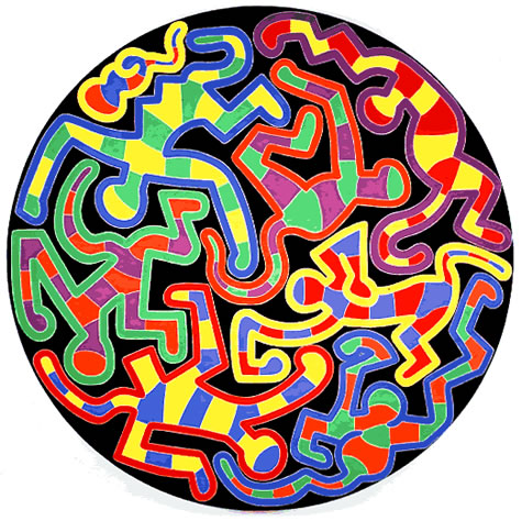 Monkey Puzzle, 1988 - Keith Haring