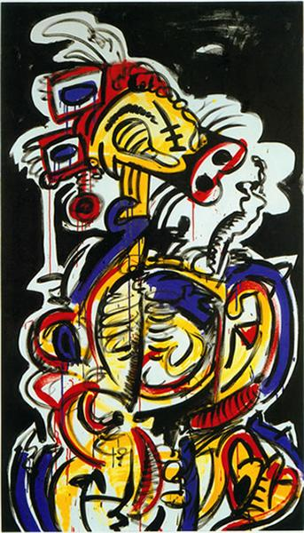Red-Yellow-Blue No.15, 1987 - Keith Haring