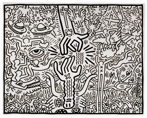 The Marriage of Heaven and Hell, 1984 - Keith Haring