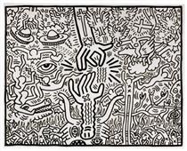 Il matrimonio tra cielo e inferno - Keith Haring
