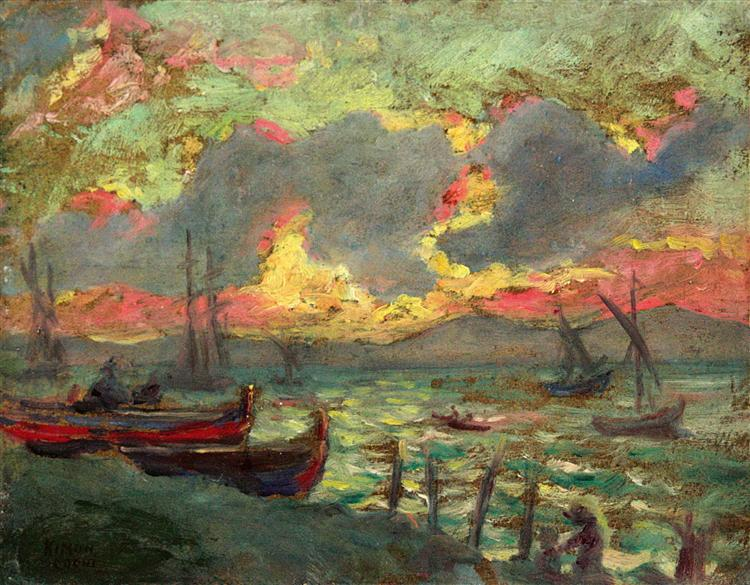 Boats on the Shore - Kimon Loghi
