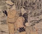 Along the Shore of Yènoshim - Kitagawa Utamaro