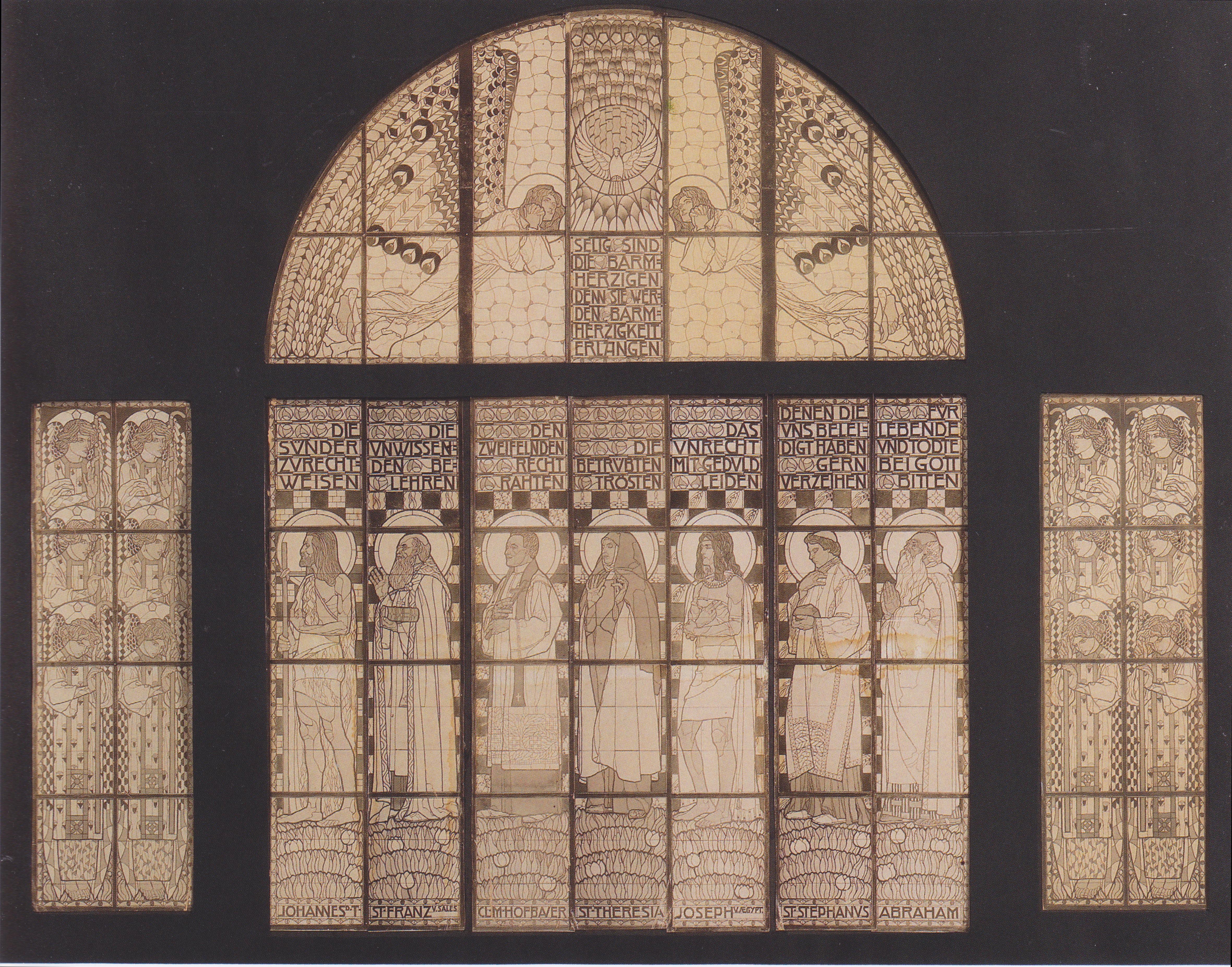 Church Am Steinhof Drawing Of Western Window