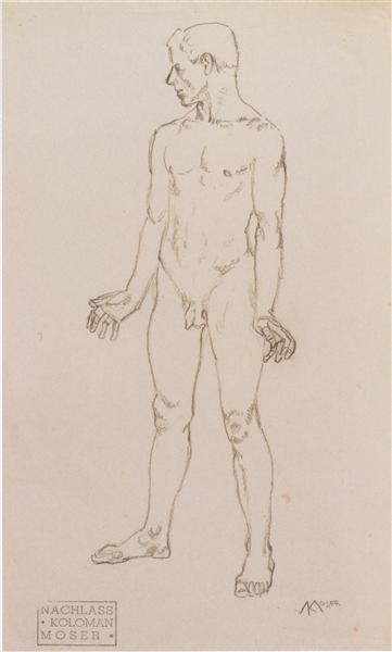 Figure study of Tristan, c.1915 - Koloman Moser