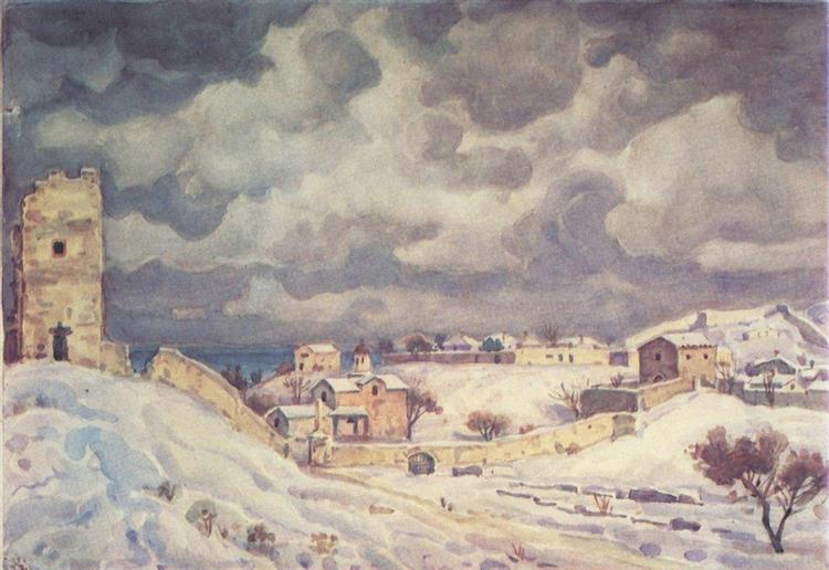 Feodosia at winter, c.1942 - Constantin Bogaïevski