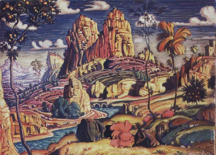 Воспоминание о Мантенье, 1910 - Константин Богаевский