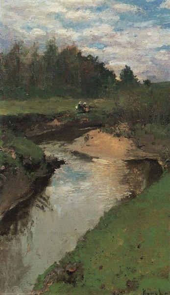 Речка Воря. Абрамцево, c.1880 - Константин Коровин