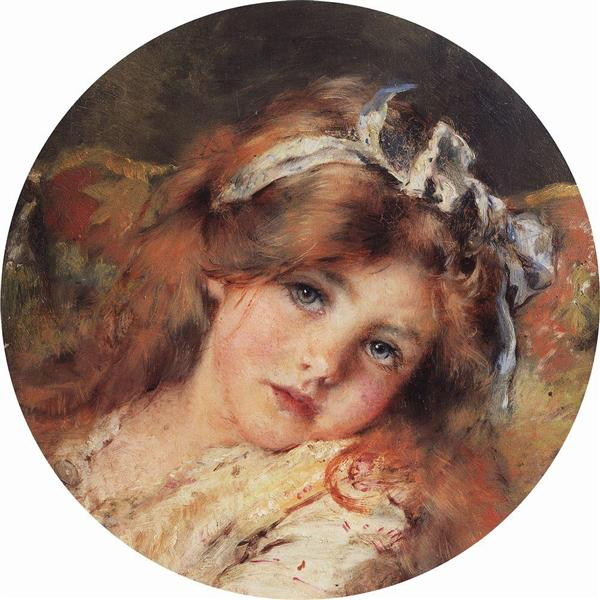 Child Head, c.1890 - Konstantin Makovsky