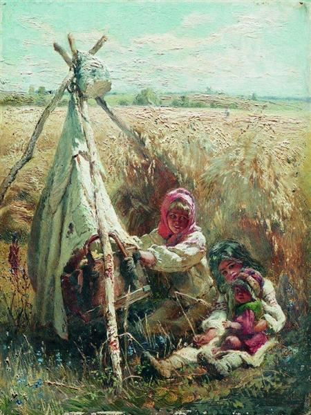 Children in a Field, 1870 - Konstantin Makovsky