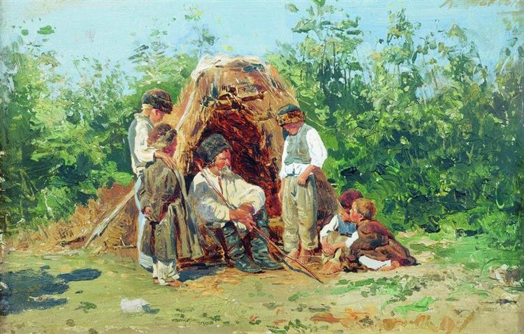 Grandfather Stories, 1881 - Konstantin Makovsky