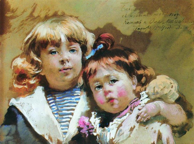 Konstantin and Olga Makovsky, 1894 - Konstantín Makovski
