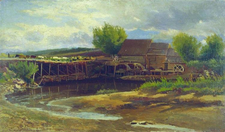 Landscape with Lake - Костянтин Маковський