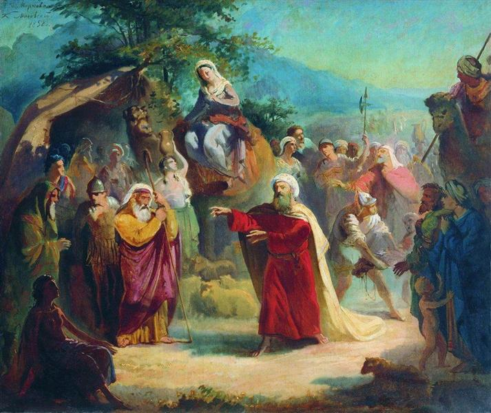Meeting of Isaac and Eleazar, 1858 - Konstantin Makovsky