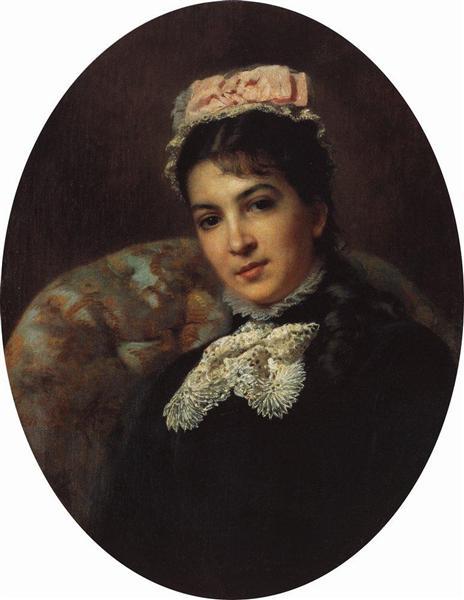 Portrait of Margarita Savina - Konstantin Makovsky
