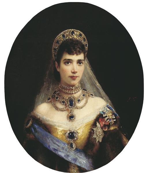 Portrait of Maria Feodorovna (Dagmar of Denmark) - Konstantin Makovsky