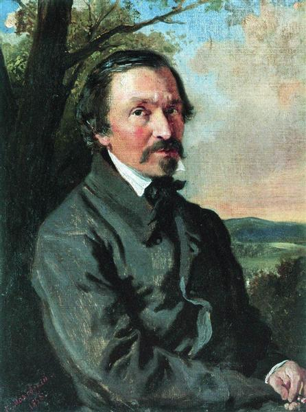 Portrait of Nikolay Nekrasov, 1856 - Konstantin Makovsky