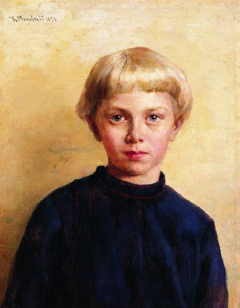 Portrait of the Boy, 1874 - Konstantin Makovsky