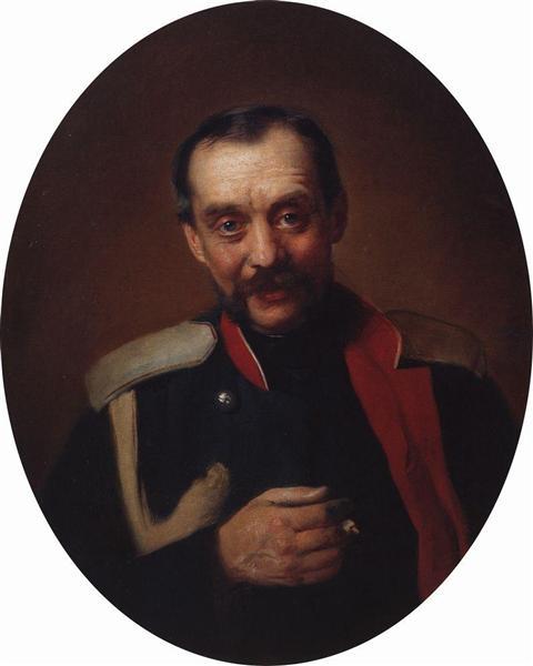 Portrait of the composer Cesar A. Kyui - Konstantin Makovsky