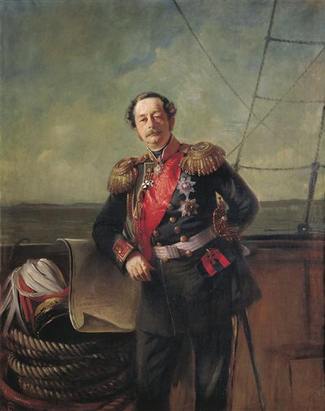 Portrait of the Count Nikolay Muravyov-Amursky, 1863 - Костянтин Маковський