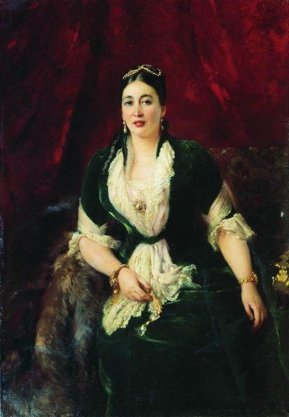 Portrait of Tradeswoman E.Rastorgueva, 1885 - Konstantin Makovsky