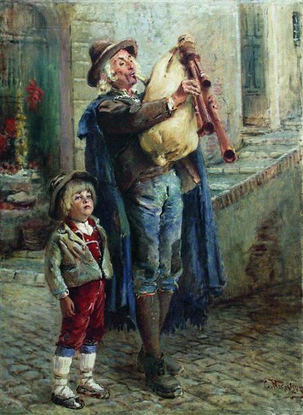 Strolling Musicians, c.1900 - Konstantin Makovsky