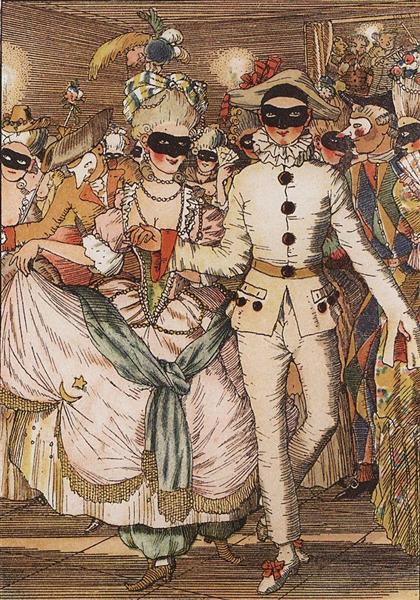 Book of the Marquise. Illustration 8, 1918 - Konstantin Somov