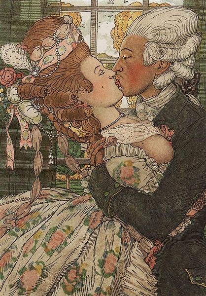 Book of the Marquise. Illustration 9, 1918 - Konstantin Somov