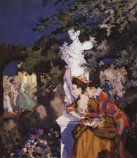 In Love with Harlequin, 1912 - Konstantin Somov