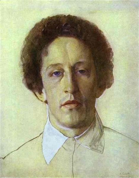 Portrait of Aleksandr  Blok - Konstantin Somov