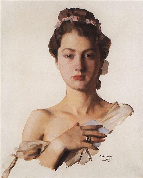 Portrait of Alexandra Levchenko, 1934 - Konstantin Somov
