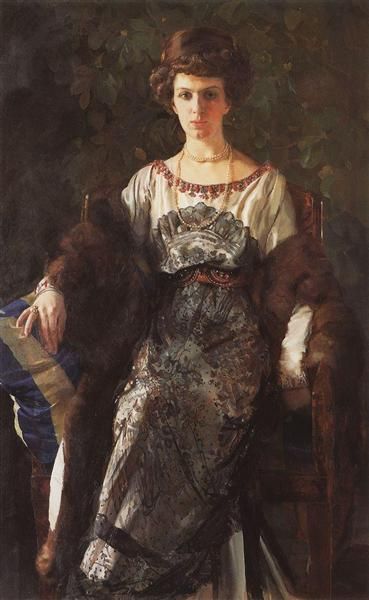 Portrait of Ewfimia Nosova, 1911 - Constantin Somov