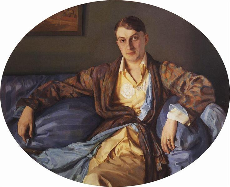 Portrait of M. Lukyanov, 1918 - Костянтин Сомов