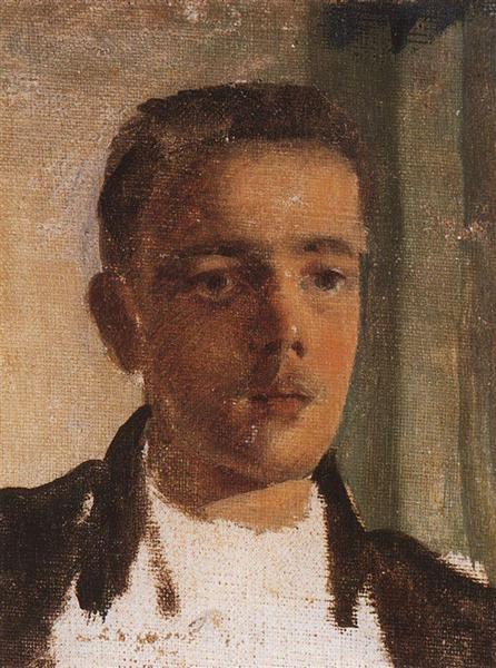 Portrait of S. Dyagilev, 1893 - Konstantin Somov