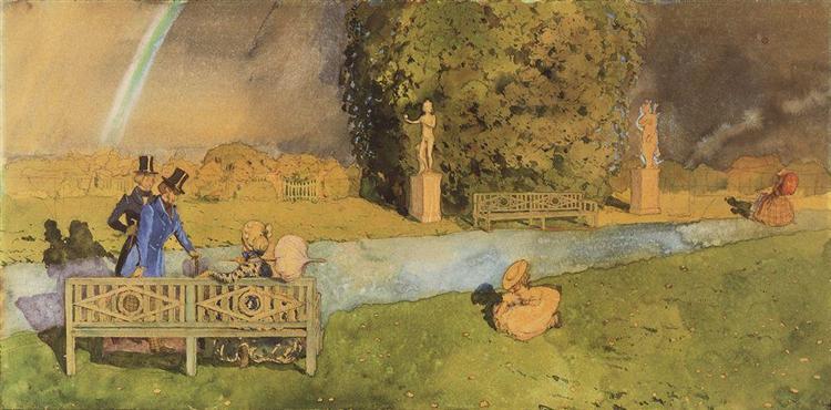 Promenade after Rain 1, 1896 - Konstantin Somov