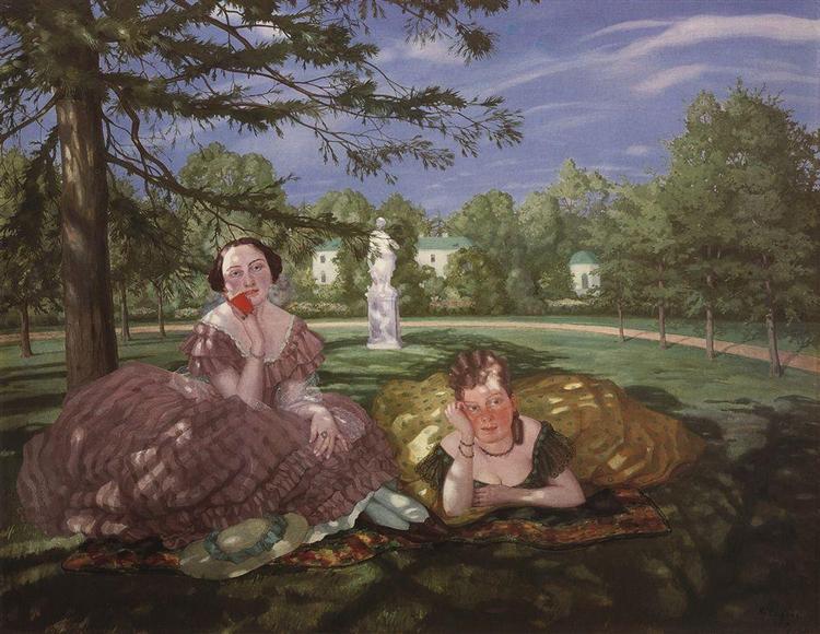 Two Ladies in the Park, 1919 - Konstantin Somov