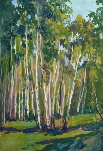 Birches at Noon - Konstantin Yuon