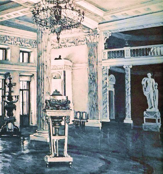 Concert Hall of the Ostankino Palace, 1950 - Konstantin Yuon