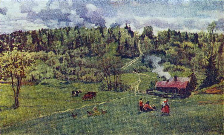 Green May, 1917 - Konstantin Yuon