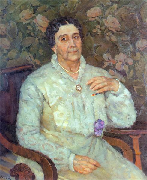 Portrait of actress E.D. Turchaninova, 1945 - Konstantin Yuon