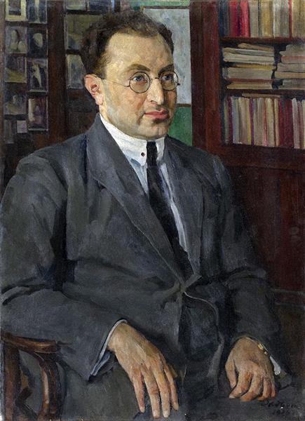 Portrait of the poet Grigory Shirman, 1926 - Constantin Youon