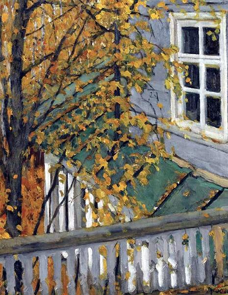 The Autumn View From The Balcony - Konstantin Yuon