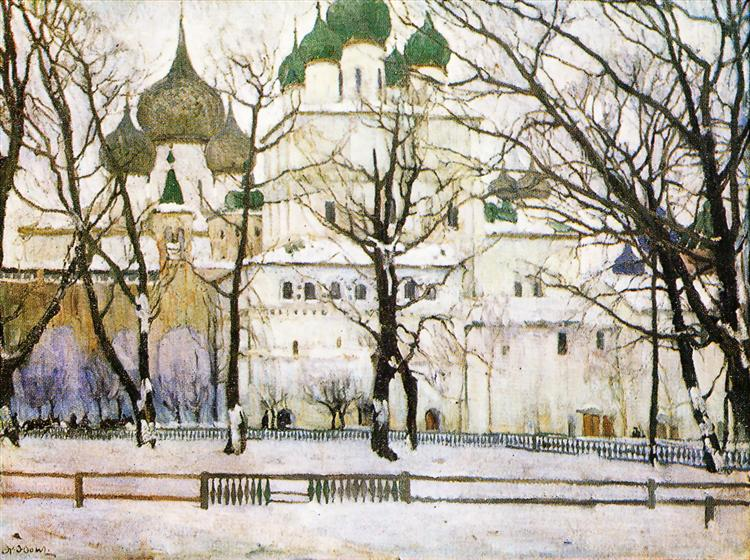 The cathederal in Rostov The Great, 1906 - Константин Юон