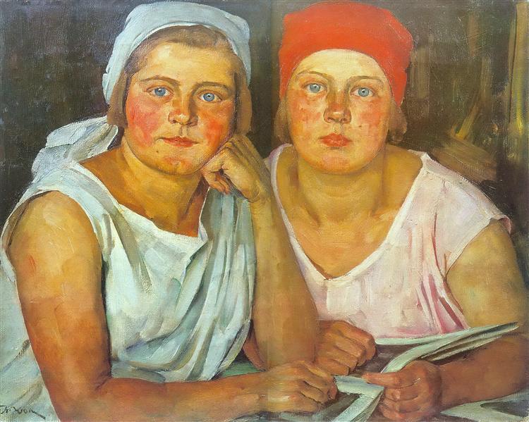 The Komsomol Girls, 1926 - Konstantin Yuon