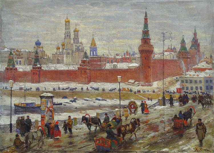 The Old Moscow - Konstantin Yuon