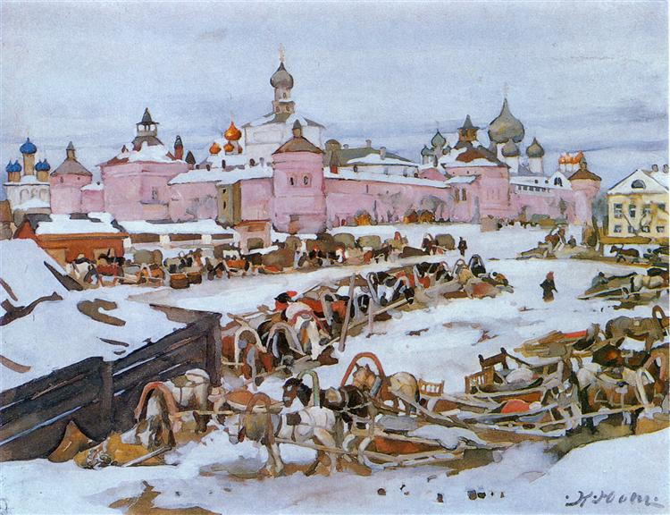 The Rostov Kremlin, 1916 - Константин Юон