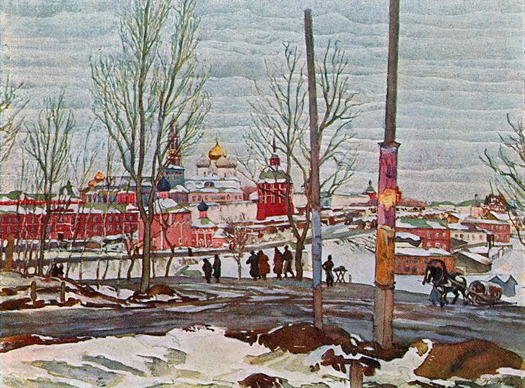 The Troitse-Sergiyev Monastery. March, 1910 - Konstantin Yuon