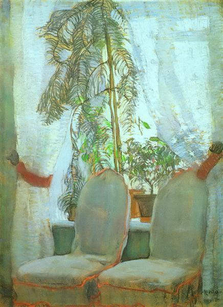 The Window. Moscow, artist's parents appartment, 1905 - Константин Юон