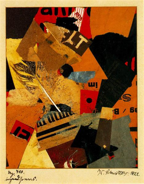 something or other, 1922 - Kurt Schwitters