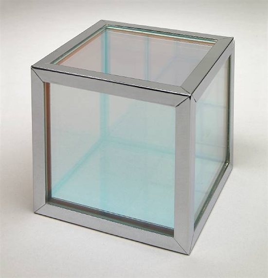 Untitled (Iridescent Cube), 1964 - Larry Bell