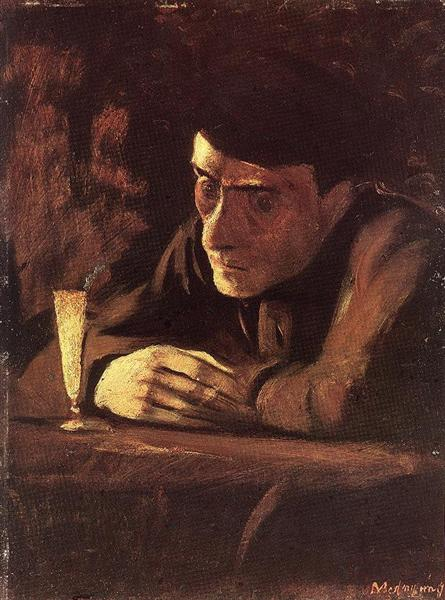 Absinth Drinker, 1898 - Laszlo Mednyanszky